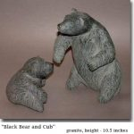 """""""Mother Bear and Cub"""", stone"""