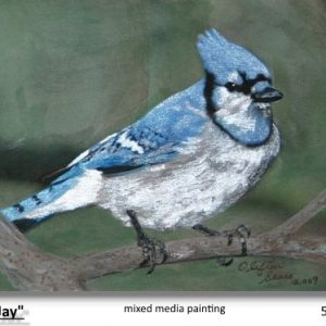 """Blue Jay"", watercolor paintng"