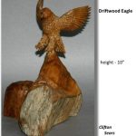 """""""Driftwood Eagle"""", carved found wood"""