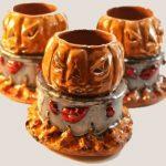 evil pumpkin lobster boil candle holder
